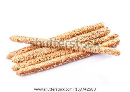 Bread sticks - stock photo