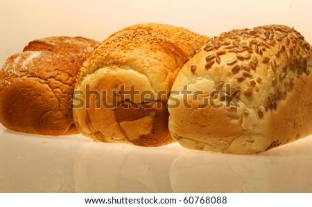 Bread. Studio shot. On white background. - stock photo