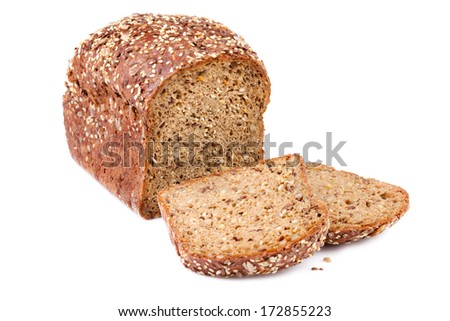 Bread with Flax seed - stock photo