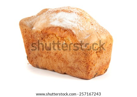 bread with reflection isolated on white - stock photo