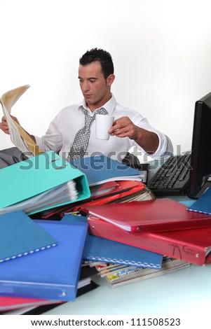 Break from work - stock photo