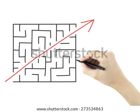 break the rules drawn by man's hand on a white board - stock photo