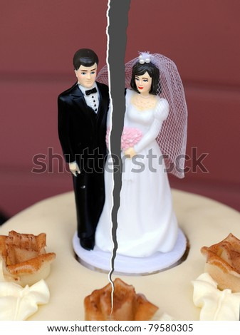 Break up of a married couple - stock photo