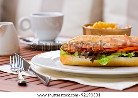 Breakfast. - stock photo