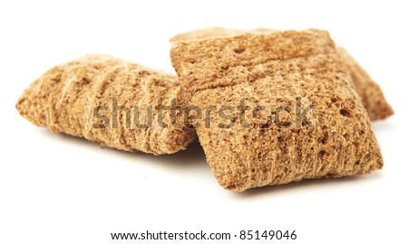 breakfast cereals isolated on a white background - stock photo