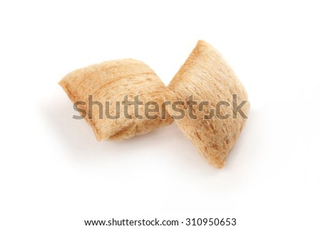 Breakfast cereals/small pillows - stock photo