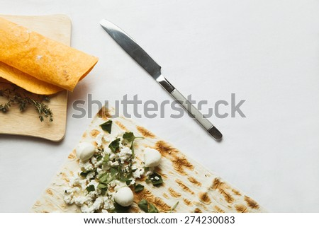 breakfast on a table - stock photo