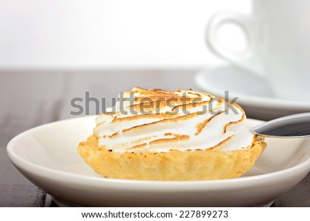Breakfast with cake and coffee - stock photo