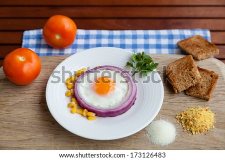 Breakfast with ingredients - stock photo