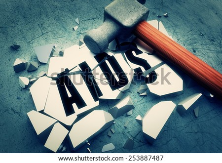Breaking AIDS - stock photo
