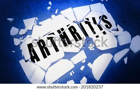 Breaking arthritis - stock photo