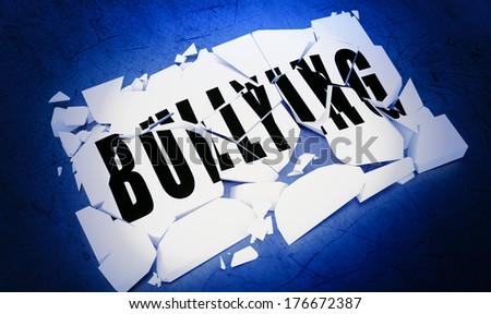 Breaking bullying.   - stock photo