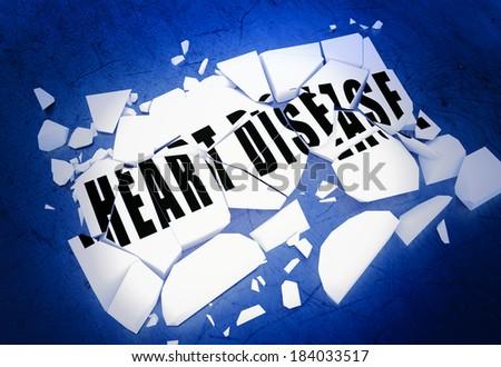 Breaking heart disease - stock photo