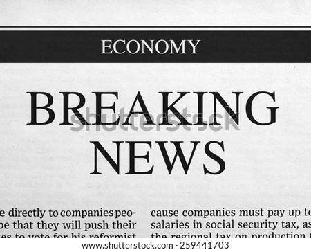 Breaking news headline - stock photo