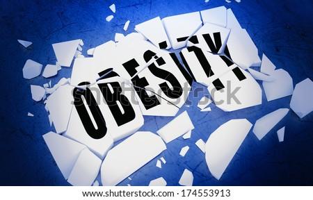 Breaking obesity  - stock photo