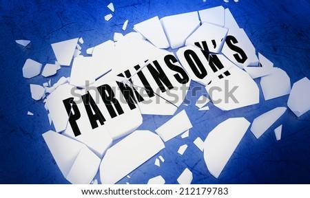 Breaking Parkinson's disease - stock photo