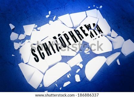 Breaking schizophrenia - stock photo