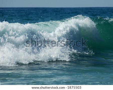 Breaking Surf at Laguna Beach - stock photo