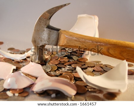 Breaking the Bank - stock photo