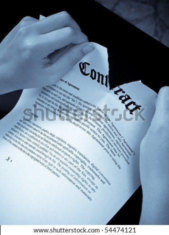 Breaking The Contract Rules Concept - stock photo