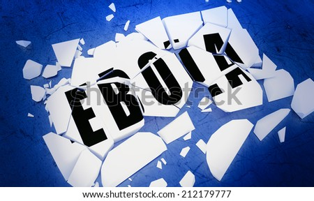Breaking the Ebola virus.   - stock photo