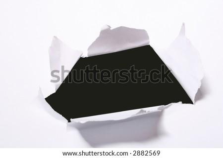 Breaking through - stock photo