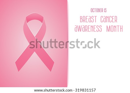 Breast Cancer Awareness Month Date. Pink Ribbon. Cancer design over pink background. - stock photo