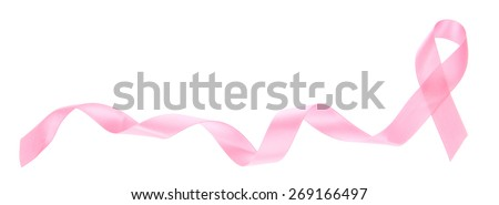 Breast Cancer Awareness ribbon / border - stock photo