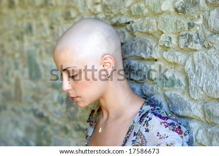 Breast cancer survivor is concerning about her future - stock photo