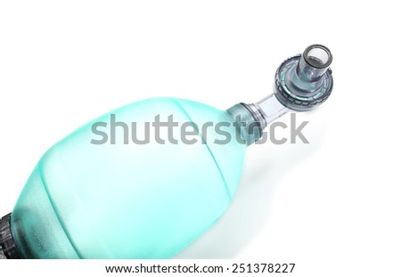 Breathing device isolated on a white background - stock photo