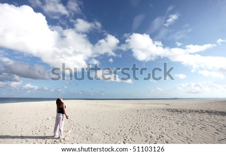 Breathing the fresh air of paradise - stock photo