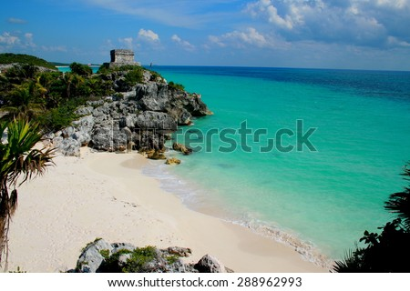 Breathtaking Tulum, Playa del Carmen - stock photo