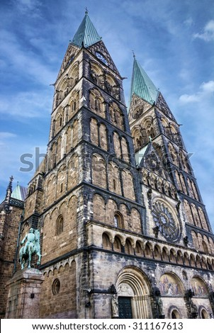 Bremen Cathedral church (Bremer Dom), Germany - stock photo