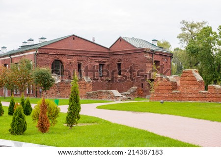 Brest Fortress, Brest, Belarus. It is one of the Soviet World War II war monuments commemorating the Soviet resistance against the German invasion on June 22, 1941 - stock photo