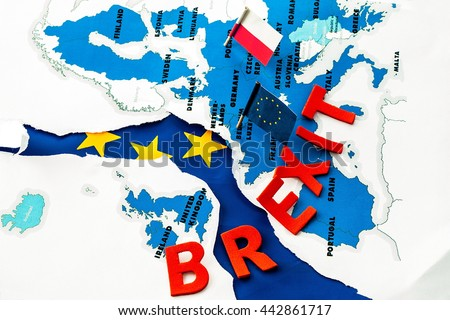 BREXIT, black thursday in European Union, who is next,  political and social crisis in europe  - stock photo