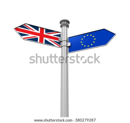 Brexit Direction Sign - stock photo