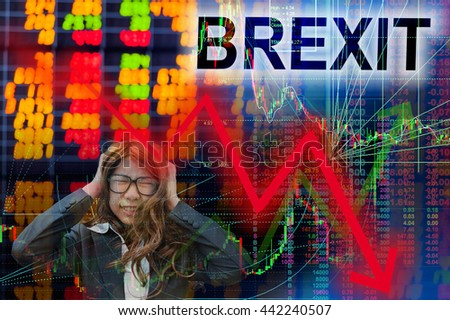 Brexit sell on fact - stock photo