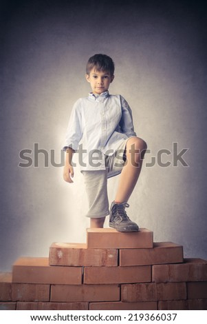 Brick by brick  - stock photo