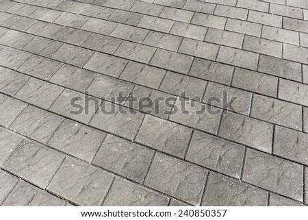 Brick floor - stock photo
