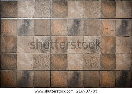 Brick floor  design  old style - stock photo
