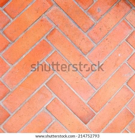 Brick floor  Geometric design - stock photo