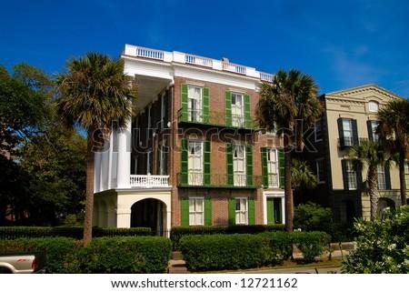 Brick House in Charleston, SC - stock photo