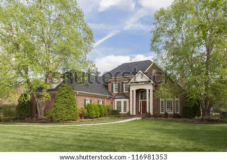 Brick Mansion Estate House - stock photo