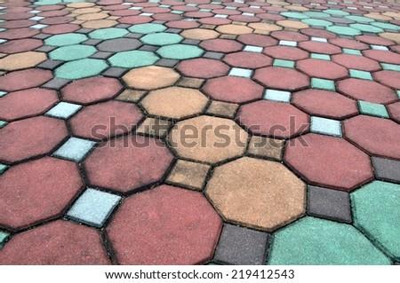 Brick pathway - stock photo