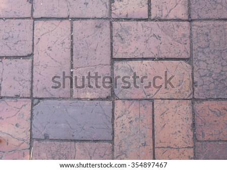 Brick paving background made from interlocking concrete bricks - stock photo