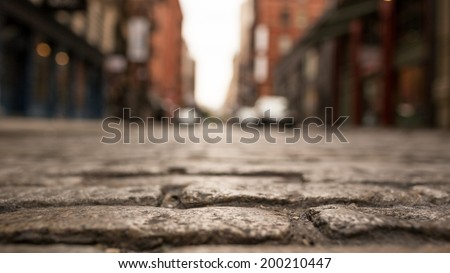 Brick Street - stock photo