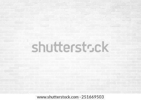 Brick texture background in white color - stock photo