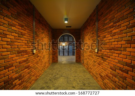 Brick Tunnel - stock photo