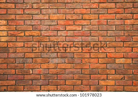 Brick wall background, texture - stock photo