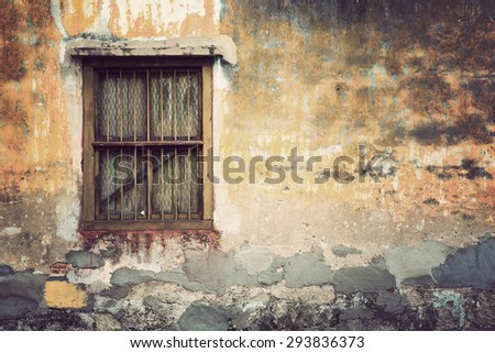 Brick wall background texture, Vintage Style - stock photo